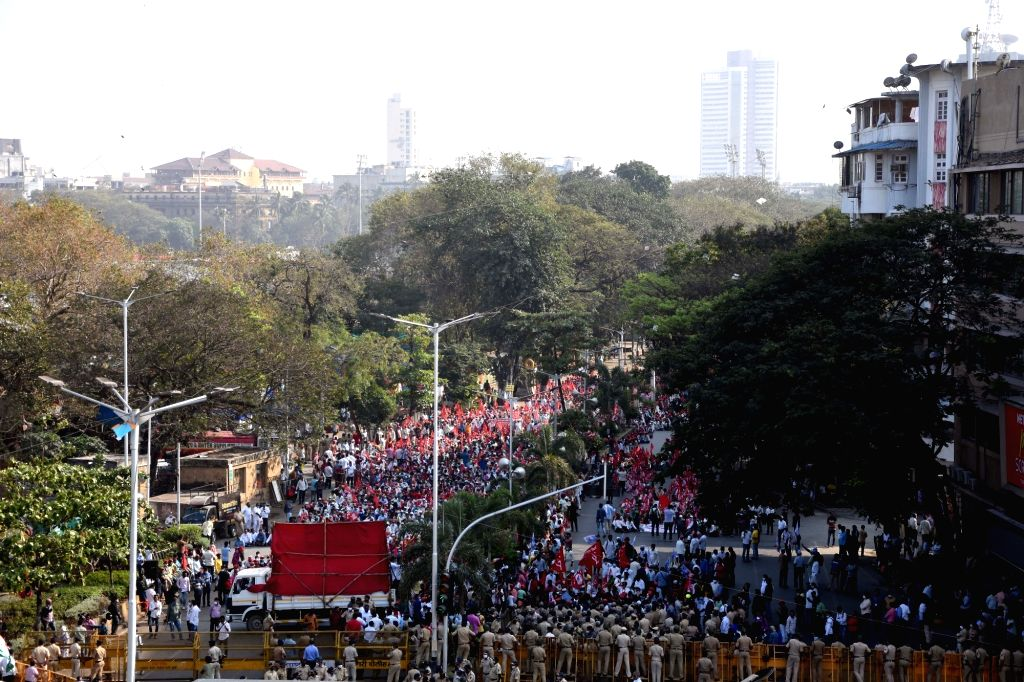 Central Government announce 3 agriculture act they are bill against Farmers and worker jointly organised rally they are support on NCP President, Sharad Pawar during address they after ...