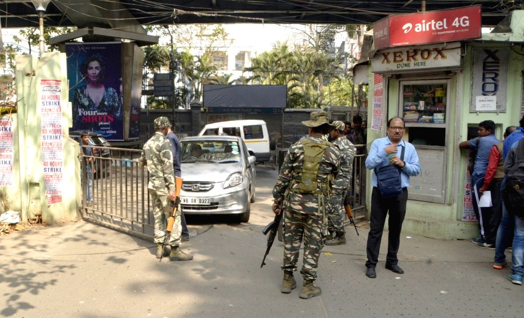 Central Reserve Police Force (CRPF) personnel deployed at the Nizam Palace in Kolkata, on Feb 4, 2019.