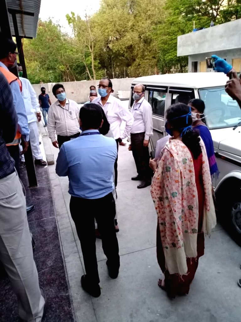 Central team inspecting various places in Hyderabad.