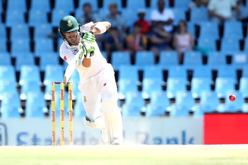Centurion: Faf du Plessis of South Africa in action during the second day of the second Test match between South Africa and India at the Supersport park Cricket Ground in Centurion, South Africa on Jan 14, 2018. (Photo: IANS/BCCI) (Credit Mandatory)