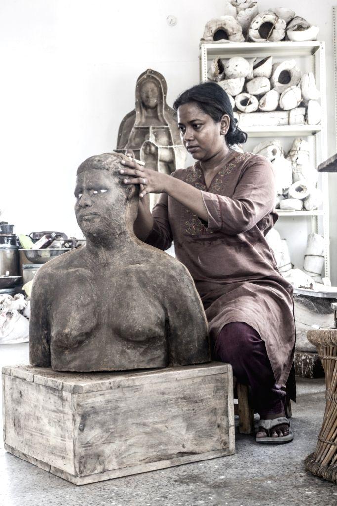 Ceramic artist Benitha Perciyal  from Chennai.  (Photo Source: Indian Ceramics Triennale) - Benitha Perciyal