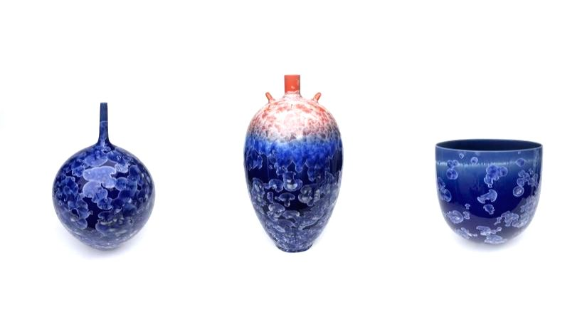 Ceramics inspired from Indian bazaars, Japanese Kimono