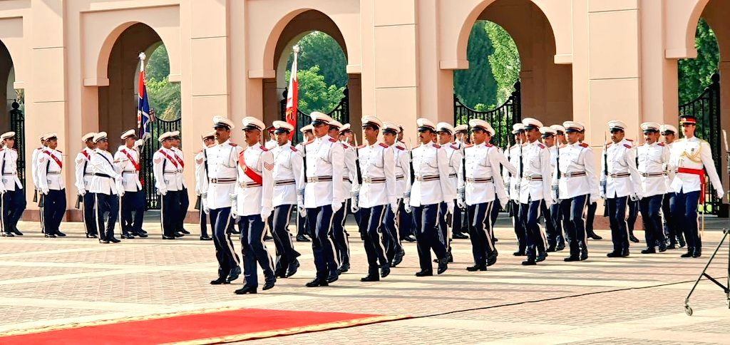 Ceremonial welcome being accorded to Prime Minister Narendra Modi at Al Gudaibiya Palace in Manama, Bahrain on Aug 24, 2019. - Narendra Modi