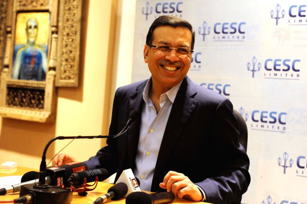 CESC Chairman Sanjiv Goenka addresses a press conference after the power utility firm reported a 1.3 per cent increase in its standalone profit after tax (PAT) to Rs 154 crore in the quarter ... - Sanjiv Goenka
