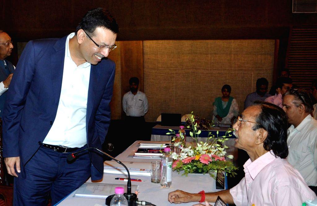 CESC Limited Chairman Sanjiv Goenka during the Annual General Meeting of CESC in Kolkata on July 22, 2016. - Sanjiv Goenka