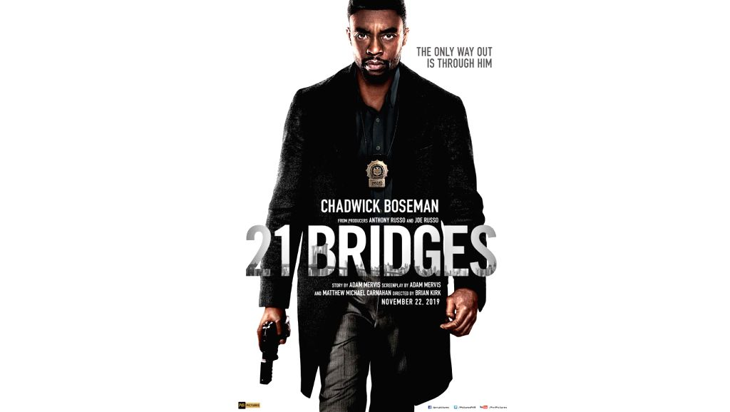 "Chadwick Boseman's ""21 Bridges"" will release in India on November 22."