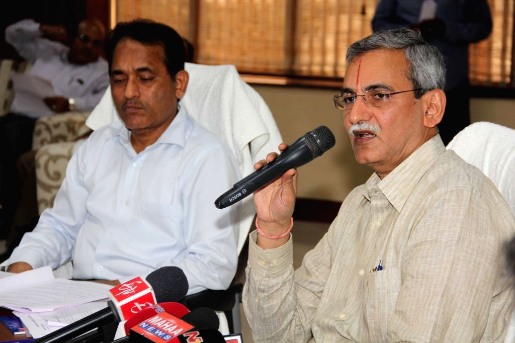 Chairman of CBDT KV Chaudhary during a press conference in Hyderabad on Aug 22, 2014.