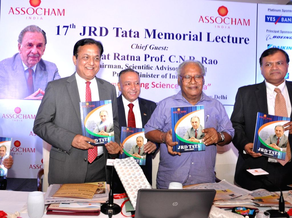 Chairman of Scientific Advisory Council of Prime Minister of India, Bharata Ratna Dr. CNR Rao releases ASSOCHAM's Special Commemorative Publication on J.R.D. Tata during the 17th JRD Tata Memorial ... - Kapoor