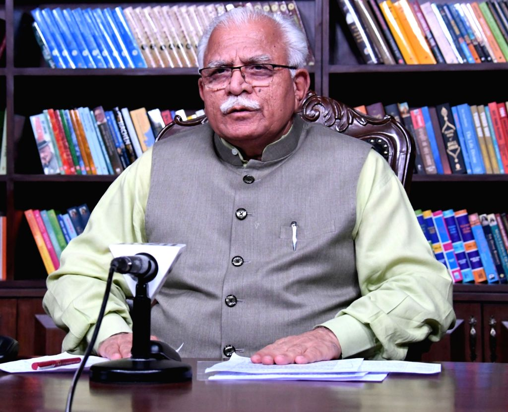 Chandigarh, April 23 (IANS) In a major initiative, Haryana Chief Minister Manohar Lal Khattar on Thursday announced to provide an insurance cover of Rs 10 lakh each for journalists and those government employees who are working in containment zones d - Manohar Lal Khattar