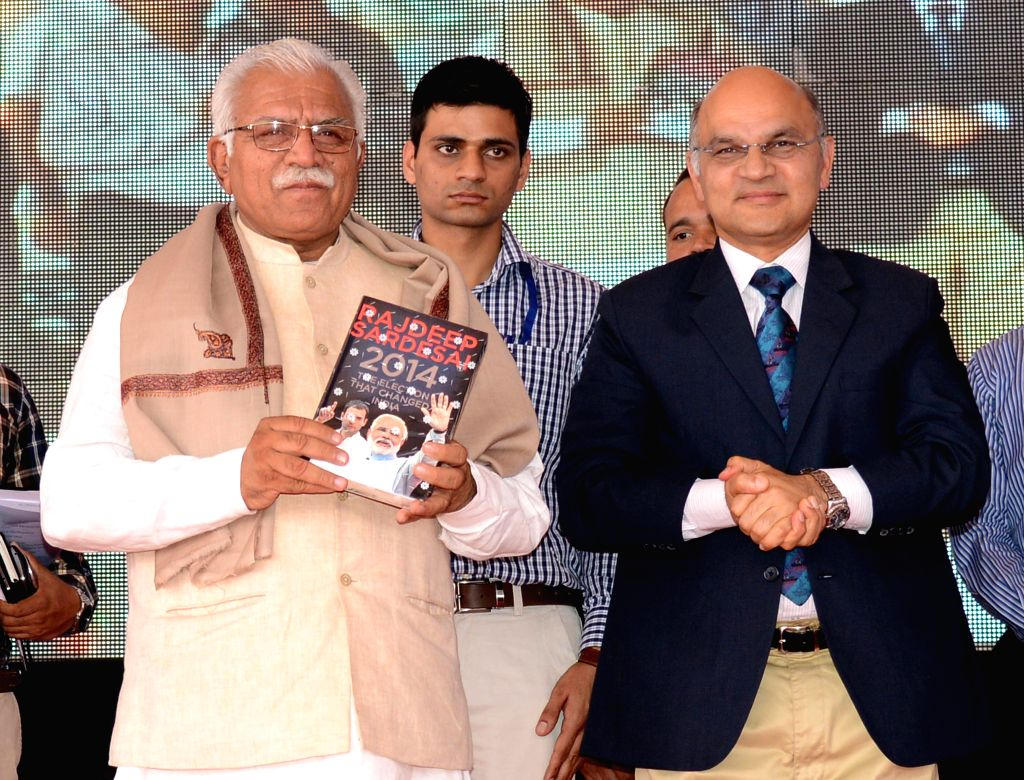 Haryana Chief Minister Manohar Lal Khattar during inauguration of the 41st Jawaharlal Nehru National Science, Mathematics and Environment Exhibition-2014 at Leisure Valley in Chandigarh, . - Manohar Lal Khattar