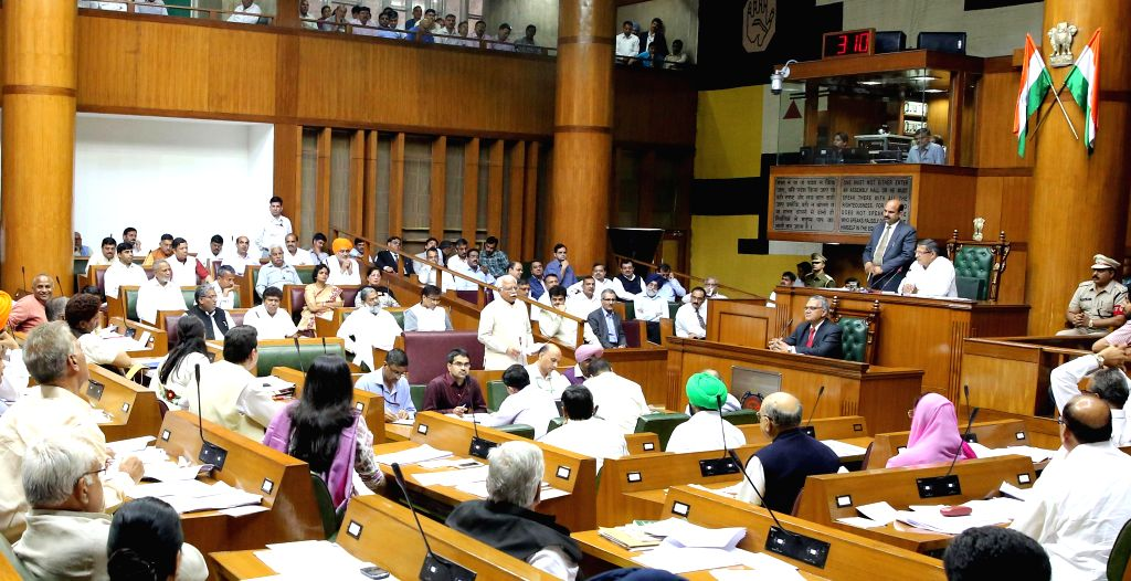 Haryana Chief Minister Manohar Lal Khattar addresses during the budget session of the state assembly in Chandigarh, on March 24, 2015. - Manohar Lal Khattar
