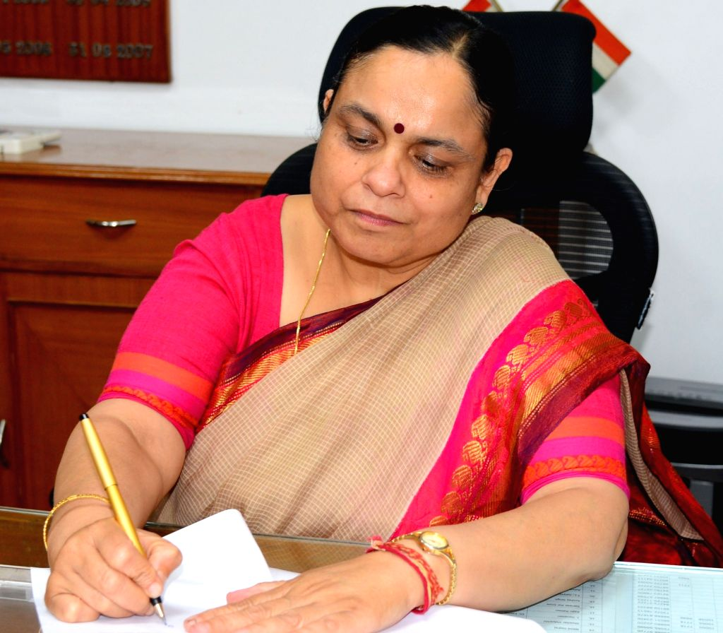 Chandigarh: Keshni Anand Arora takes charge as Haryana Chief Secretary in Chandigarh, on June 30, 2019. (Photo: IANS) - Keshni Anand Arora