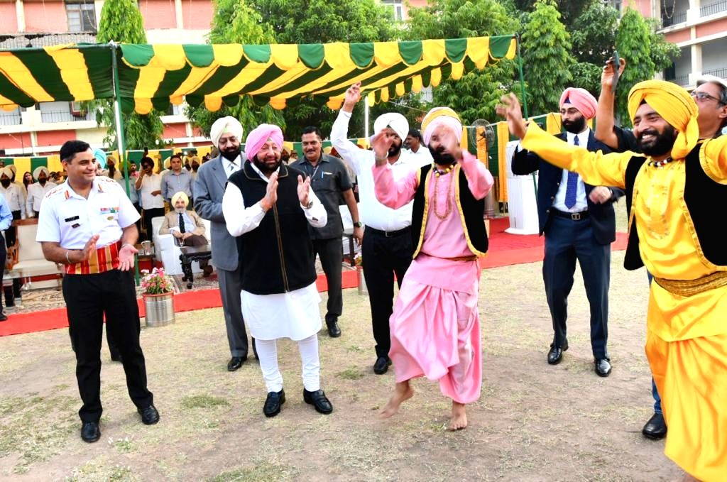 Chandigarh: Punjab Chief Minister Captain Amarinder Singh, 77, has tried to strengthen his family's century-old camaraderie with the Indian Army by joining jawans, junior commissioned officers and officers of the Sikh Regiment at a social occasion, i - Captain Amarinder Singh