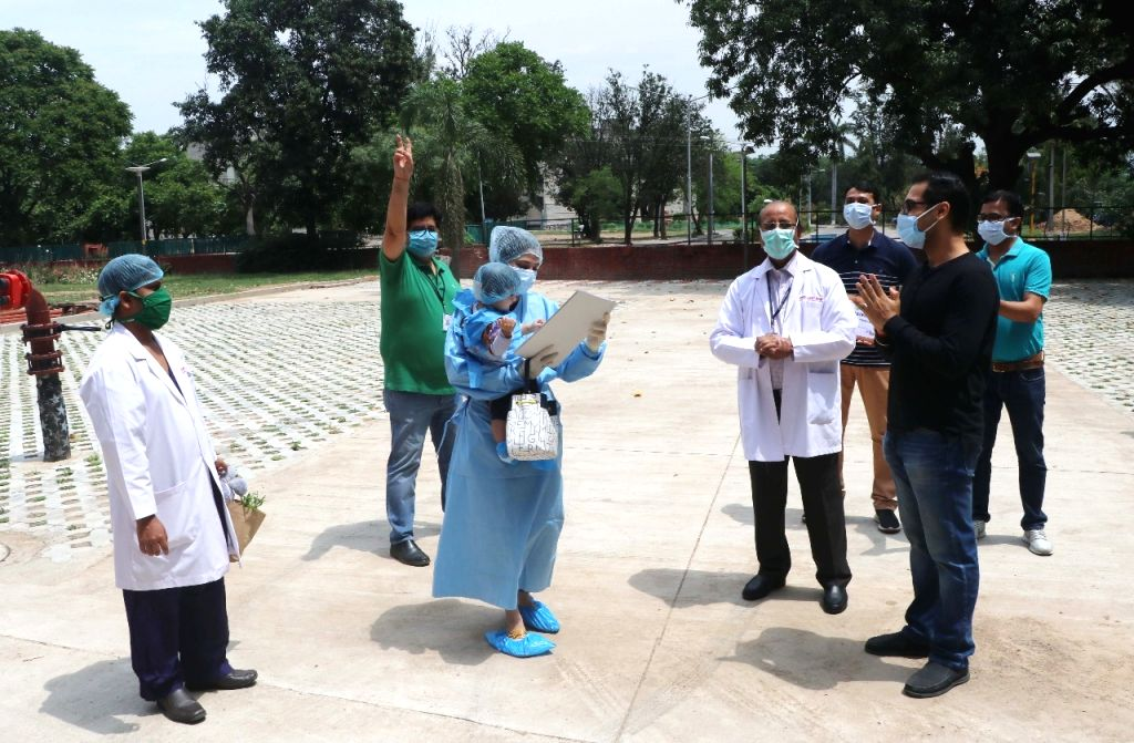 Chandigarh???s youngest cured COVID-19 patient, 11-month-old baby girl, along with her mother discharged from Postgraduate Institute of Medical Education and Research (PGIMER) on Apr 26, 2020.