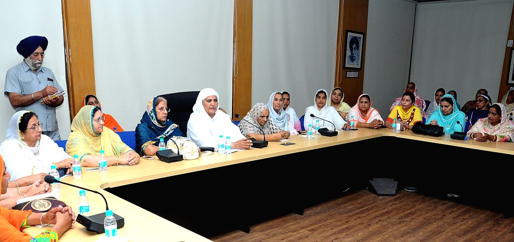 Shiromani Akali Dal leader Jagir Kaur during a meeting of party's women wing in Chandigarh, on May 5, 2015. - Jagir Kaur
