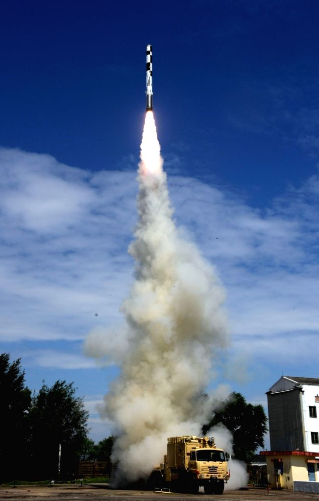 Chandipur: BrahMos supersonic cruise missile, with major indigenous systems, successfully test-fired from ITR in Odisha's Chandipur on Sep 30, 2019. (Photo: IANS/PIB)
