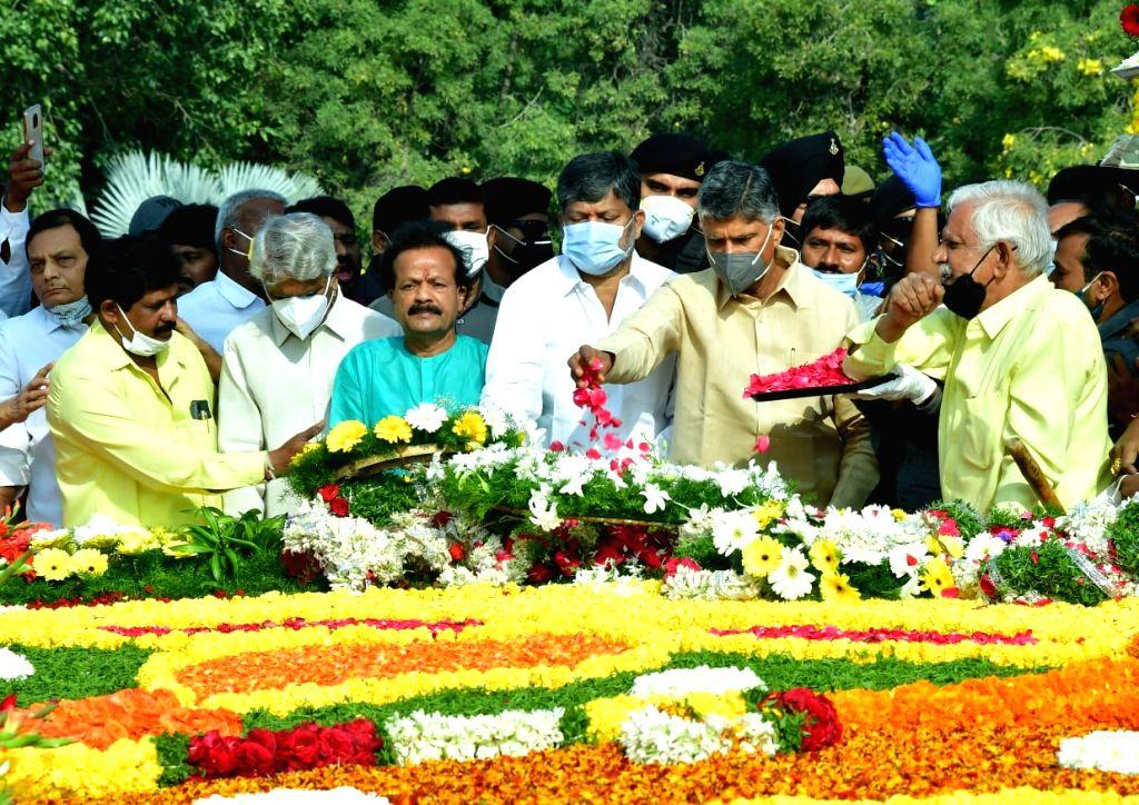 Chandrababu Naidu, TDP leaders pay tribute to NTR on 25th anniversary - Chandrababu Naidu