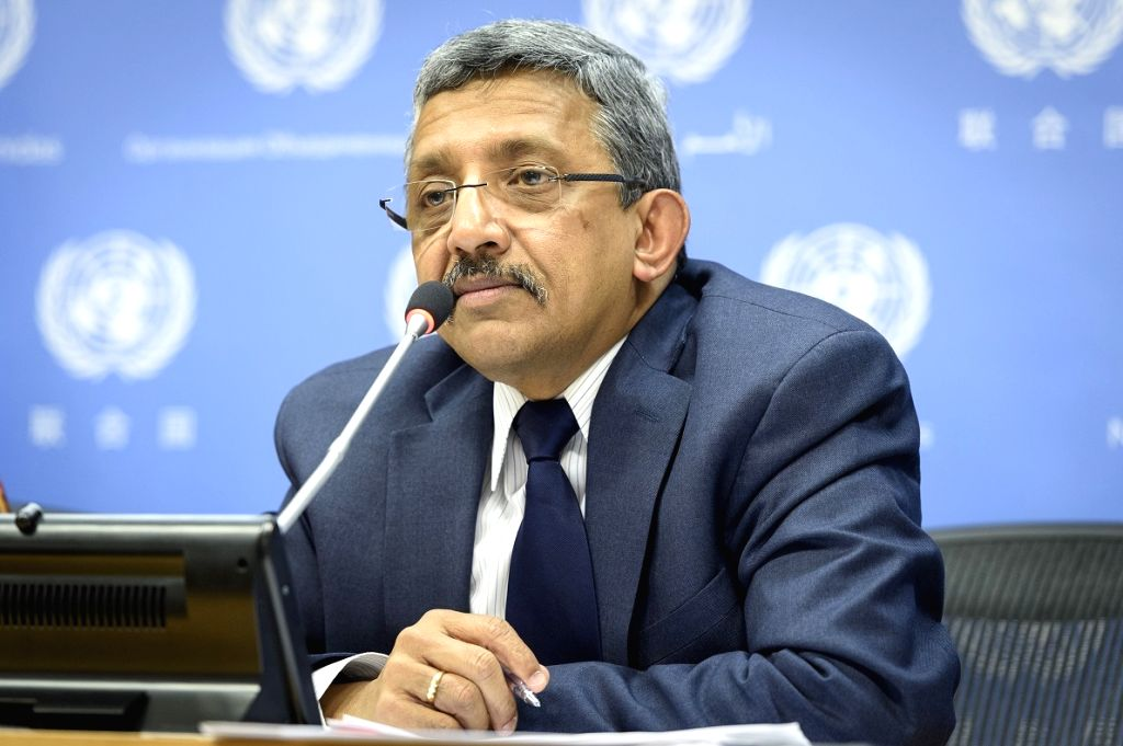 Chandramouli Ramanathan, the United Nations controller and assistant secretary-general, speaks to the media about the organisation's cashflow crisis and the austerity measures it is instituting. (Photo: UN/IANS)