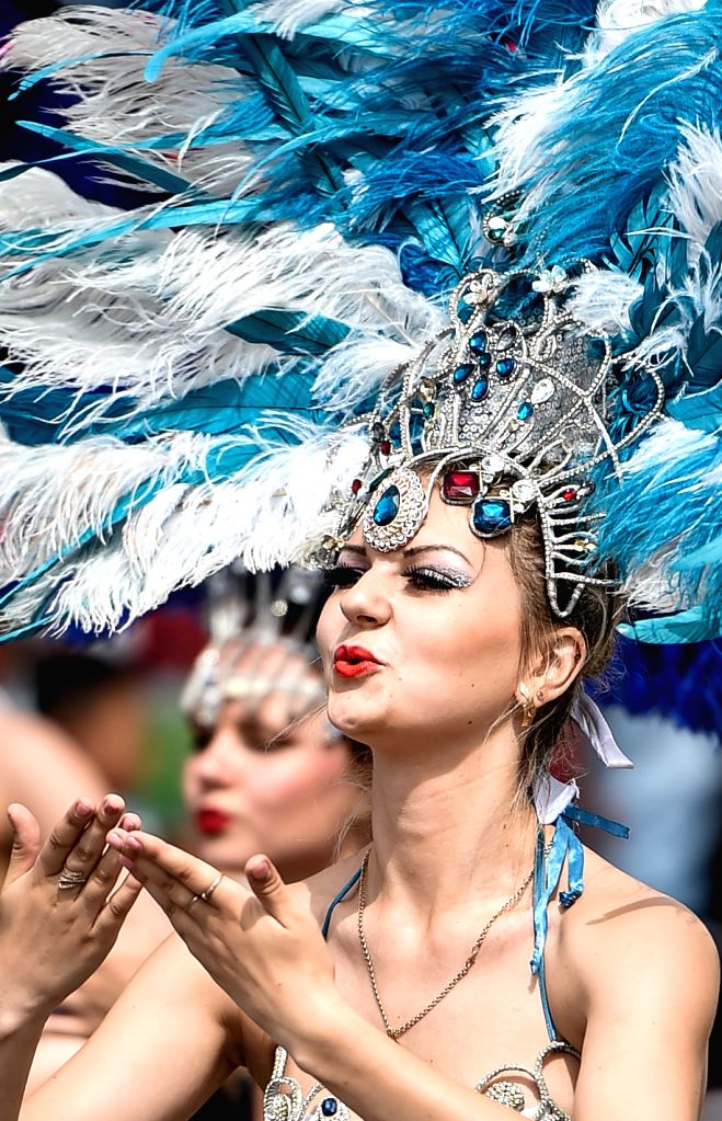 CHANGCHUN, July 17, 2016 - Performers dance samba at the Movie Wonderland in Changchun, capital of northeast China's Jilin Province, July 15, 2016. The Movie Wonderland has invited 20 performers from ...