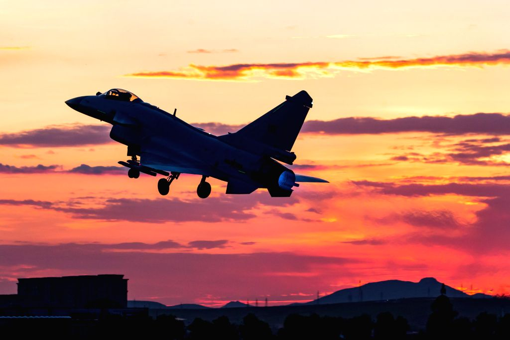 CHANGCHUN, June 22, 2017 - Photo taken on June 13, 2017 shows China's J-10B fighter jet in flight training. Chinese air force will organize two competitions from July 29 to August 12 as part of an ...