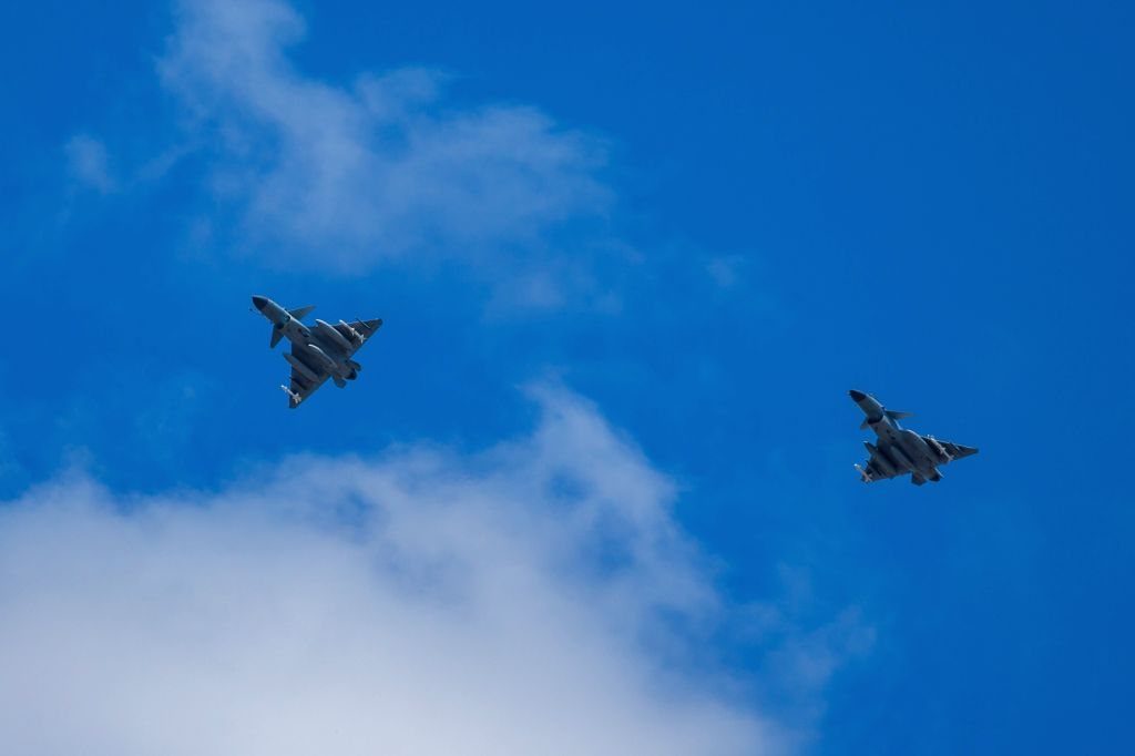 CHANGCHUN, June 22, 2017 - Photo taken on June 13, 2017 shows China's J-10B fighter jets in flight training. Chinese air force will organize two competitions from July 29 to August 12 as part of an ...