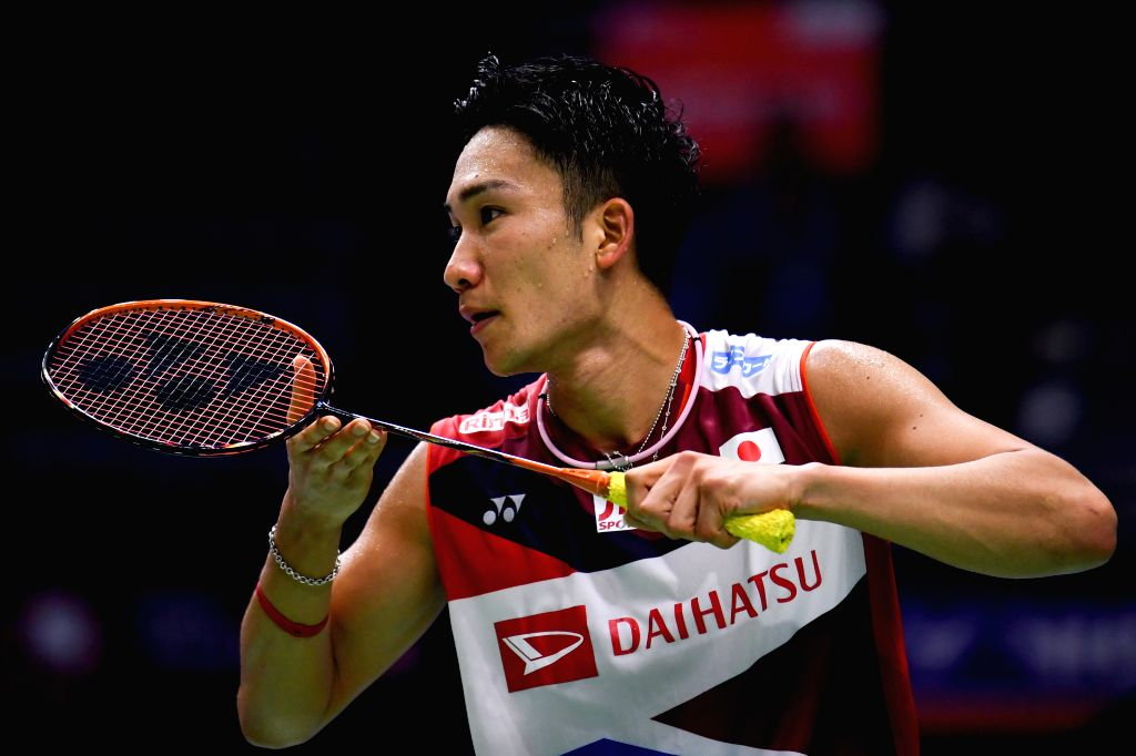 CHANGZHOU, Sept. 19, 2019 (Xinhua) -- Japan's Kento Momota competes against Indonesia's Tommy Sugiarto during the men's singles second round match at China Open 2019 badminton tournament in Changzhou, east China's Jiangsu Province, Sept. 19, 2019. (X