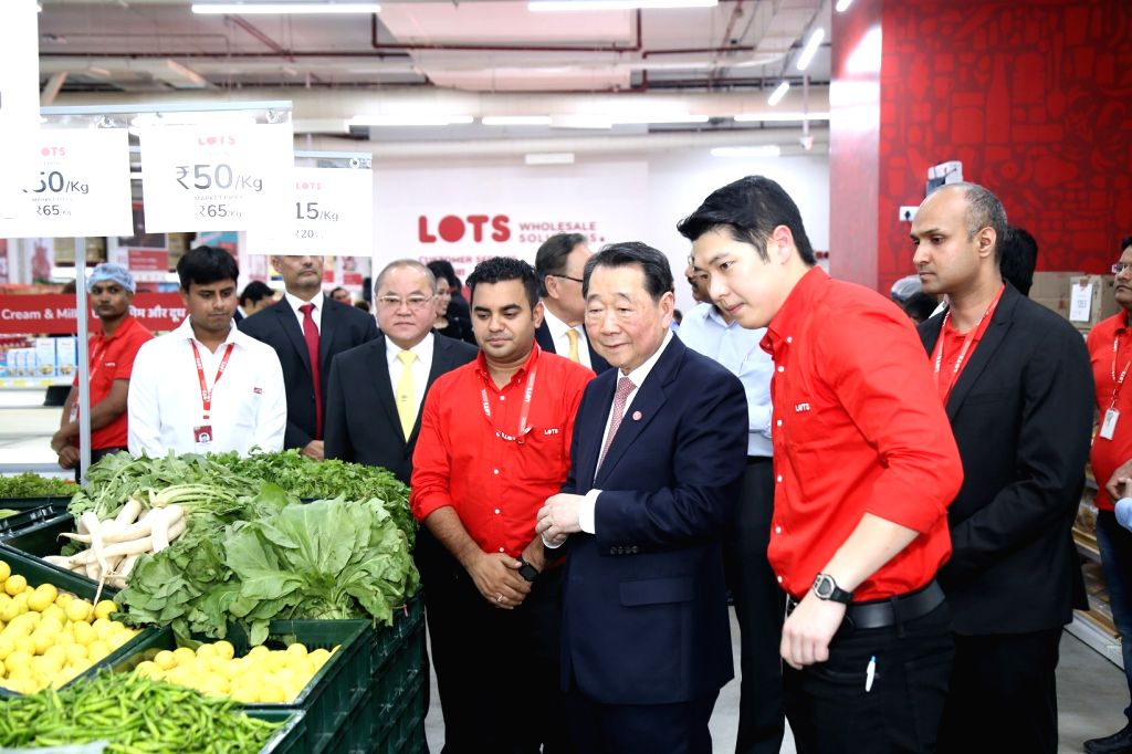 Charoen Pokphand Group Chairman Dhanin Chearavanont at the launch of first LOTS wholesale store in India, in New Delhi on July 18, 2018.