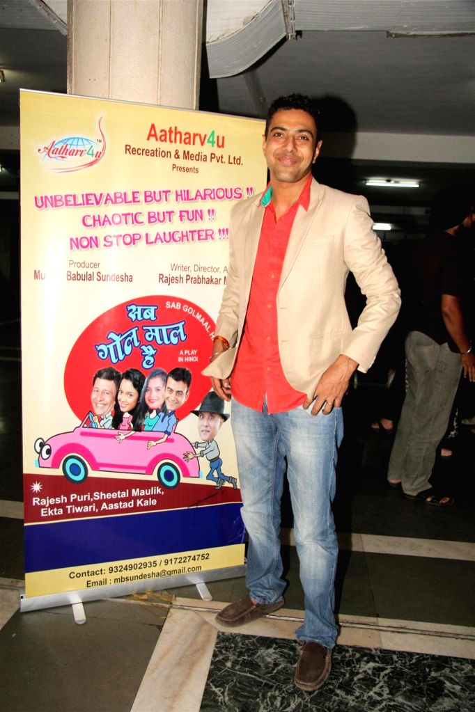 Chef Ranveer Brar during the party to celebrate the success of Hindi play `Sab Golmaal Hai`, in Mumbai, on July 5, 2015.