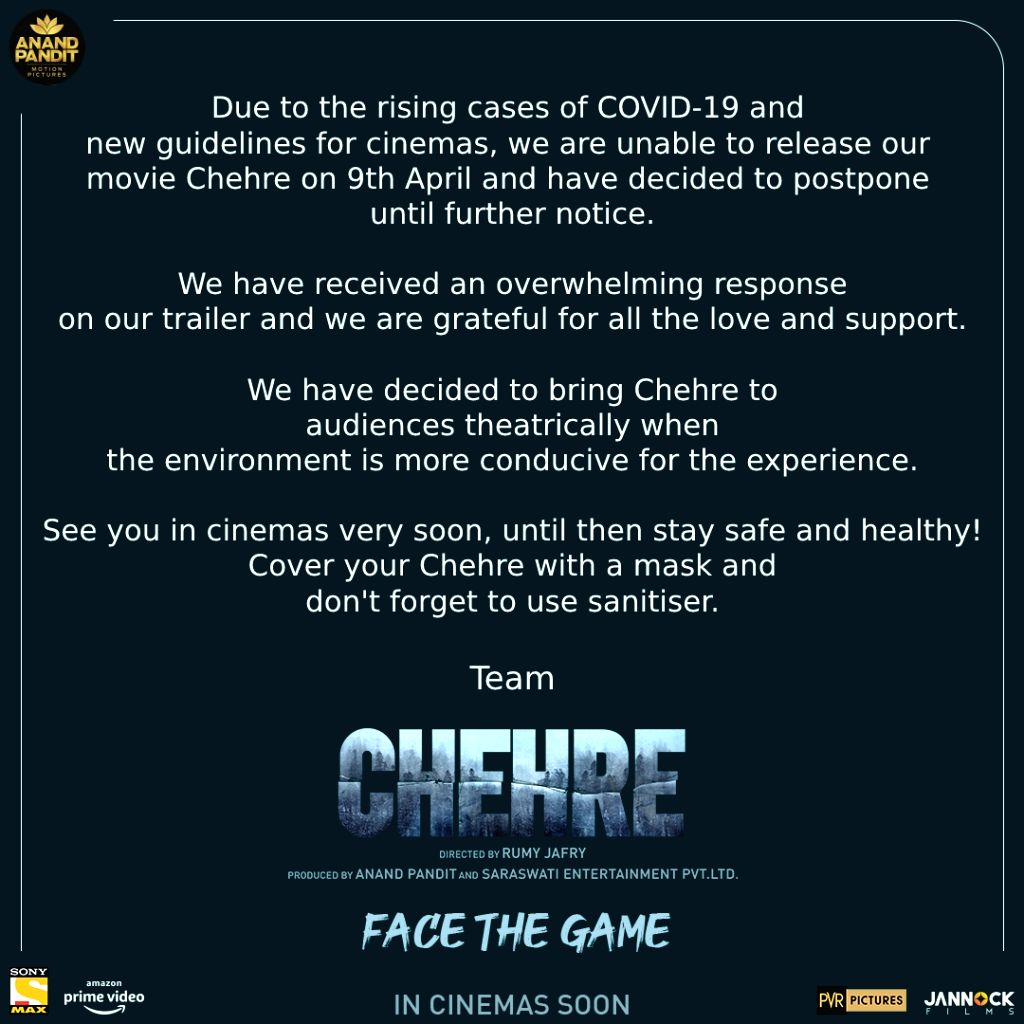 Chehre release date postponed.