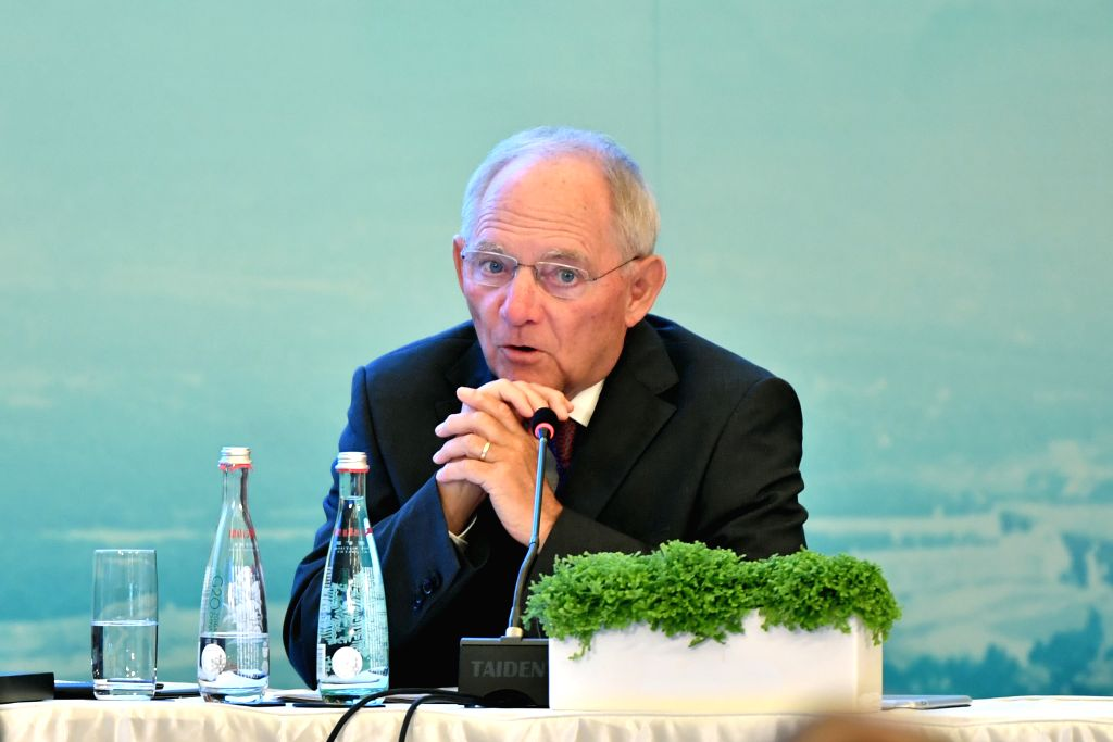 CHENGDU, July 23, 2016 - German Finance Minister Wolfgang Schaeuble speaks at the G20 High-Level Tax Symposium in Chengdu, capital of southwest China's Sichuan Province, July 23, 2016. The Symposium ... - Wolfgang Schaeuble