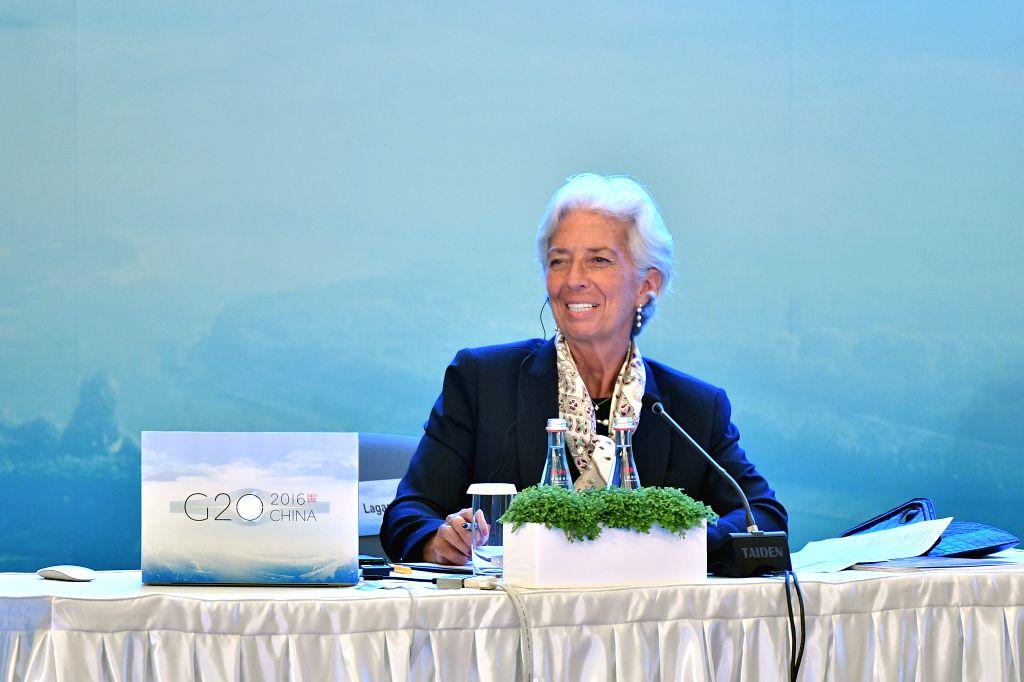 CHENGDU, July 23, 2016 - International Monetary Fund (IMF) managing-director Christine Lagarde speaks at the G20 High-Level Tax Symposium in Chengdu, capital of southwest China's Sichuan Province, ... - Christine Lagarde