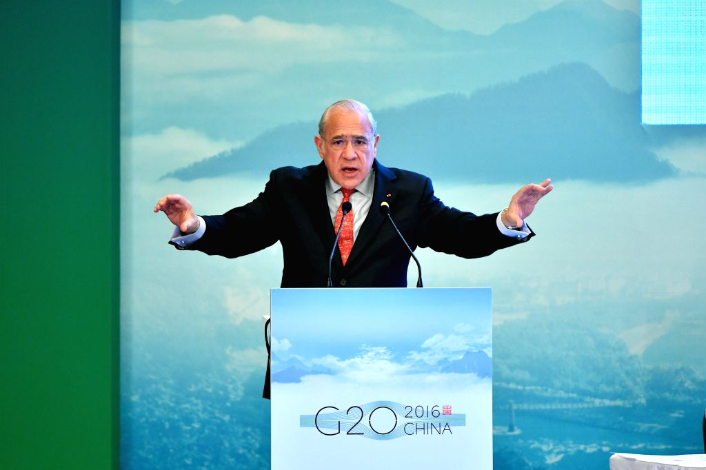 CHENGDU, July 23, 2016 - Secretary-General of the Organization for Economic Cooperation and Development Angel Gurria speaks at the G20 High-Level Tax Symposium in Chengdu, capital of southwest ...