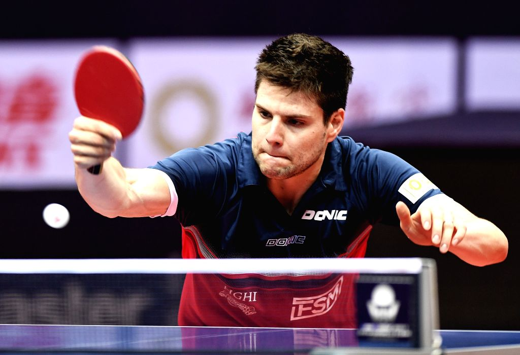 CHENGDU, June 24, 2017 - Dimitrij Ovtcharov of Germany returns the ball during the men's singles quarterfinal against Yuya Oshima of Japan at the ITTF China Open Table Tennis tournament in Chengdu, ...