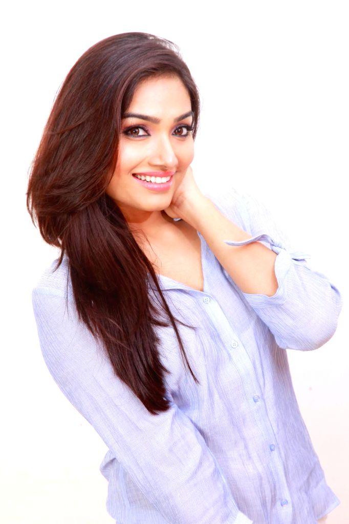 Actress Aishwarya Devan poses during a photoshoot.