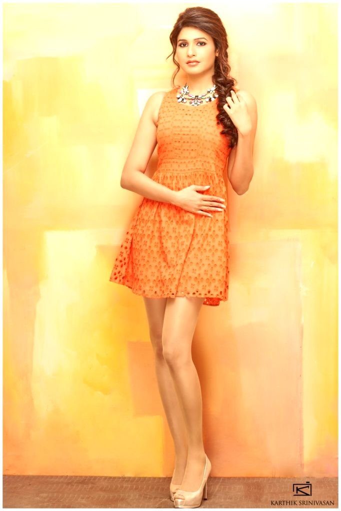 Actress Anjena Kirti photoshoot.