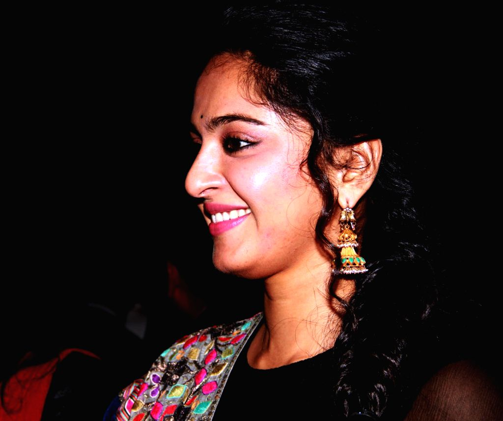 Actress Anushka Shetty at the audio launch of her upcoming film 'Linga' in Chennai, on Nov 16, 2014. - Anushka Shetty