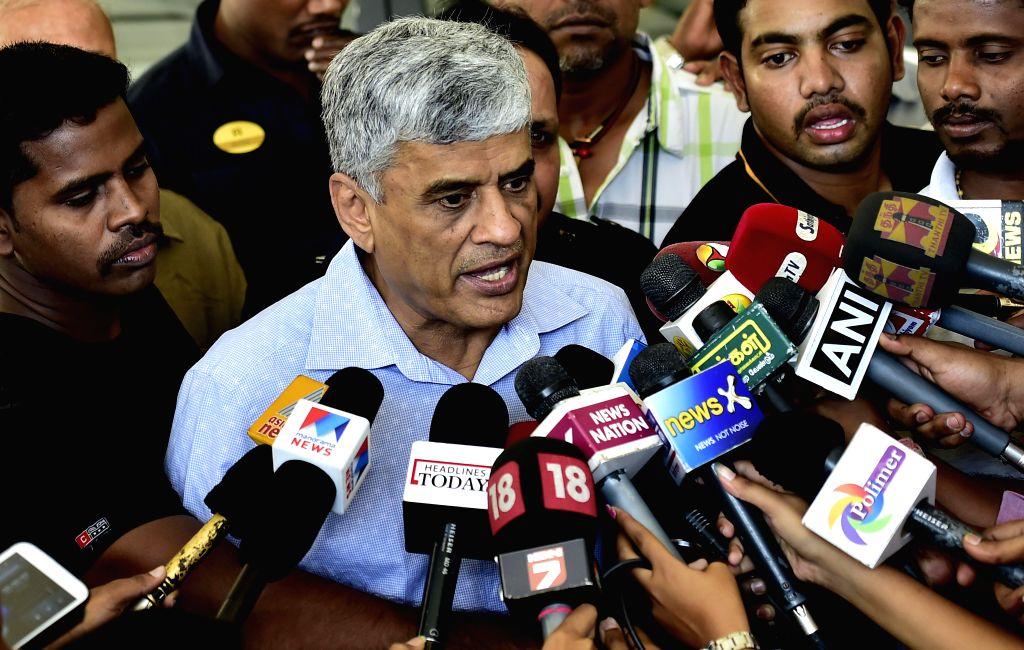 BCCI secretary Sanjay Patel talks to press after BCCI working committee meeting in Chennai, on Feb 8, 2015. - Sanjay Patel