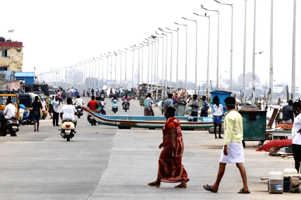 Chennai bears a deserted look during a 12-day intensified lockdown imposed to prevent COVID-19 pandemic, on June 26, 2020.