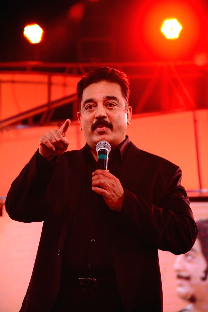 Chennai: Actor Kamal Haasan at the audio launch of upcoming multilingual film `Uttama Villian`. - Kamal Haasan
