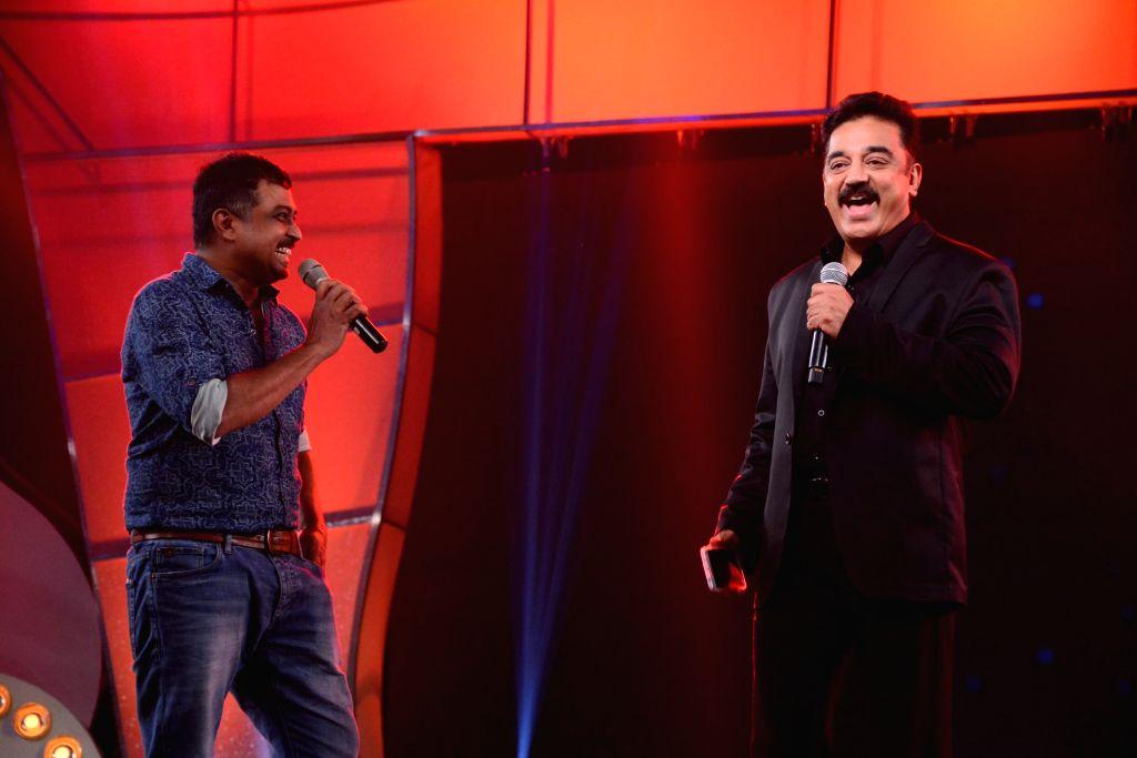 Chennai: Actor Kamal Haasan at the audio launch of upcoming multilingual film `Uttama Villian`. - Kamal Haasan