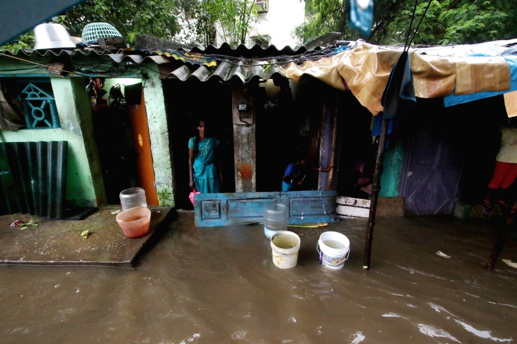 Chennai gets flooded due to the effect of cyclonic storm Nivar, on Nov 25, 2020.