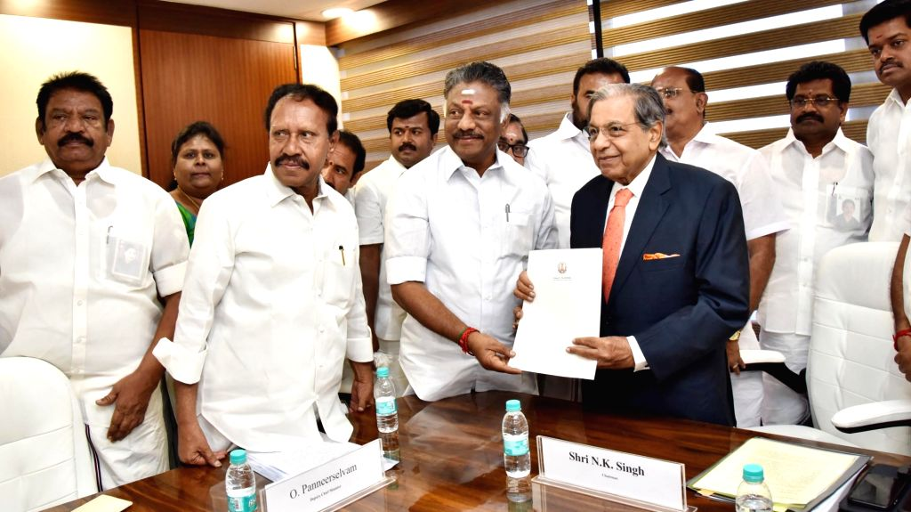 Chennai, June 19 (IANS) Ruling AIADMK party coordinator and Deputy Chief Minister O. Panneerselvam on Friday categorically said the people of Tamil Nadu and his party stand behind Prime Minister Narendra Modi and the country's armed forces. - O. Panneerselvam and Narendra Modi