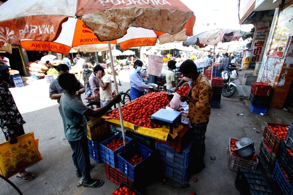 Chennai markets have seen empty look as the lockdown has been opened for the retailers from in chennai on Monday, 07 June, 2021.