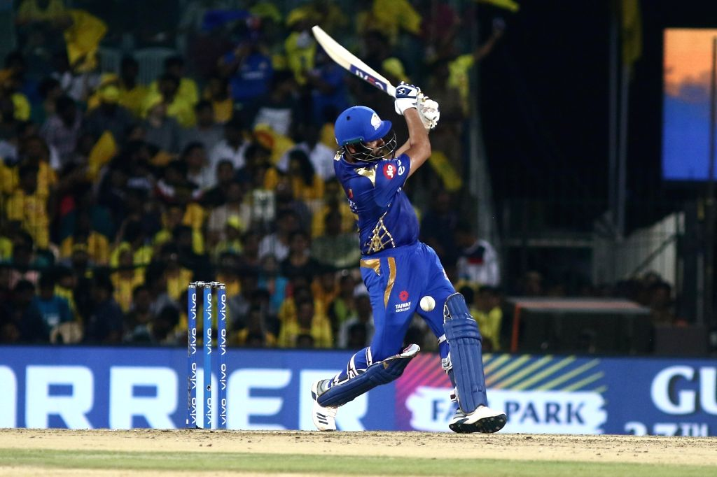 Chennai: Mumbai Indians' skipper Rohit Sharma in action during the 44th match of IPL 2019 between Mumbai Indians and Chennai Super Kings at MA Chidambaram Stadium in Chennai, on April 26, 2019. (Photo: IANS) - Rohit Sharma