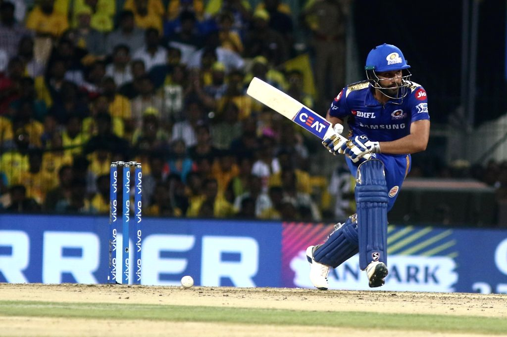 Chennai: Mumbai Indians' skipper Rohit Sharma in action during the 44th match of IPL 2019 between Mumbai Indians and Chennai Super Kings at MA Chidambaram Stadium in Chennai, on April 26, 2019. (Photo: IANS) - Rohit Sharma