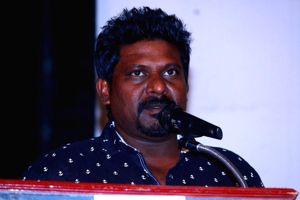 Press meet of Tamil film `Karate Karan`.
