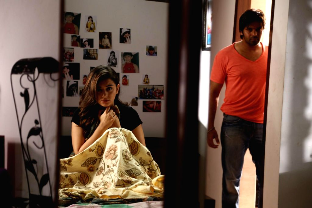 Stills from Tamil film `Meaghamann`.