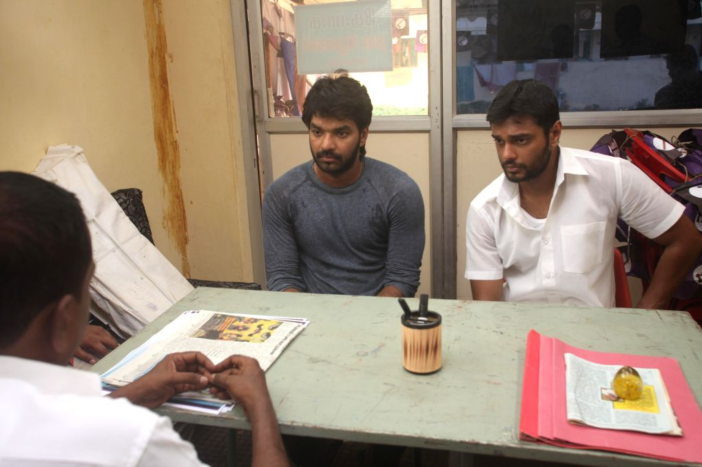 Stills from Tamil film `Pugazh`.