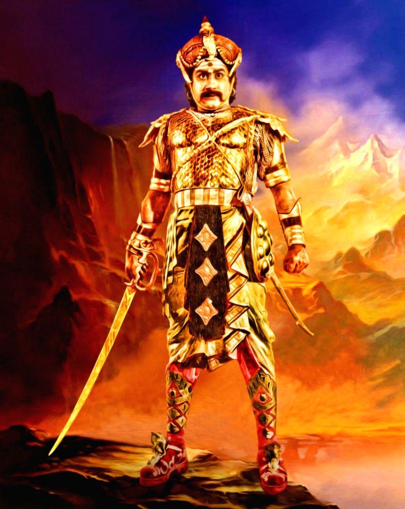 Stills from Tamil film `Veerapandiya Kattabomma`.