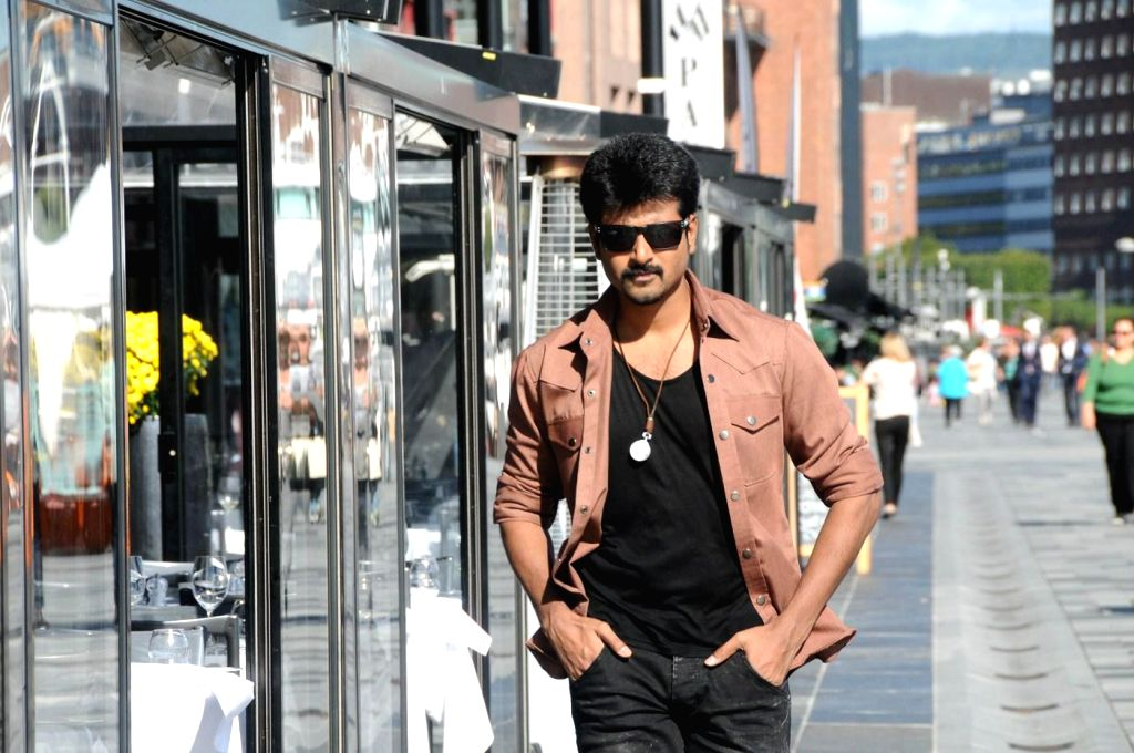 Stills from upcoming Tamil film `Kaakki Sattai`.